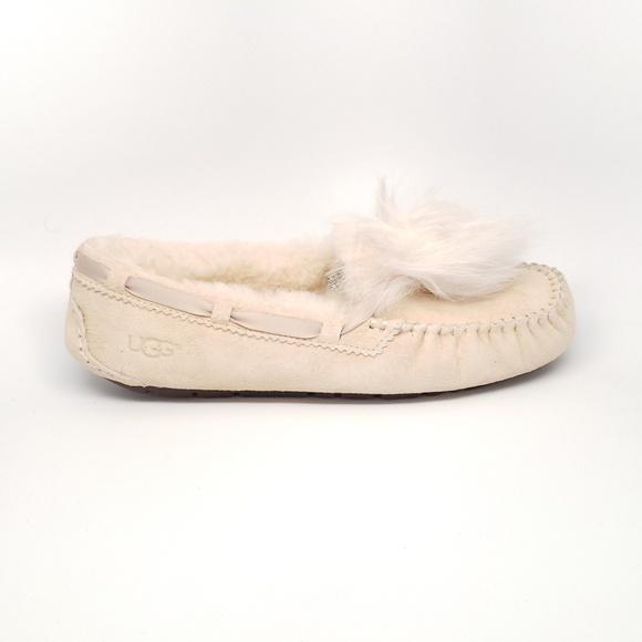 3f32673e411e UGG Dakota Pom Pom Slipper in Cream